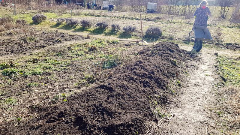 Hochbeet mit Kompostschicht